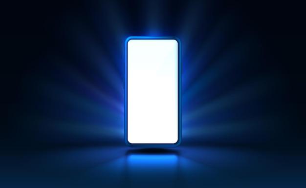 Technologia mobilnego ekranu smartfona mobilny wektor światła wyświetlacza