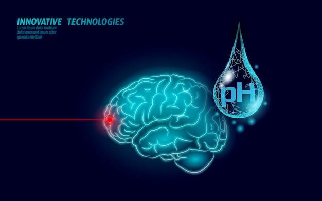 Technologia naukowa analizy laboratoryjnej ph wody w mózgu.