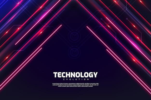 Technologia neonowe tło