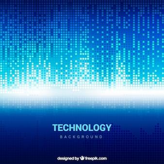 Technologia niebieskie tło błyszczące