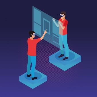 Technologia okularów dla ludzi i rzeczywistości wirtualnej