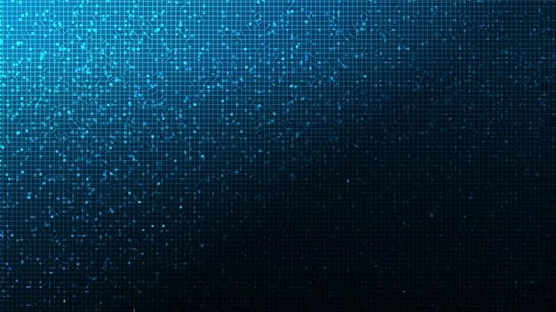 Technologia płytek drukowanych na tle przyszłości, zaawansowana technologia cyfrowa i komunikacja