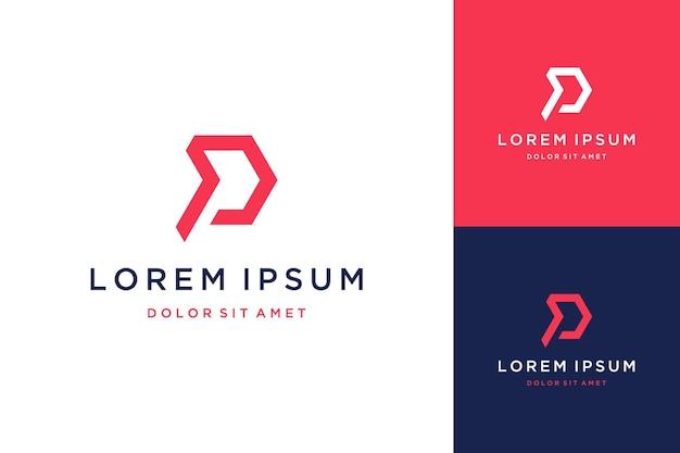 Technologia projekt logo lub monogram lub inicjały litera p