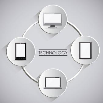 Technologia projektowania, ilustracji wektorowych.