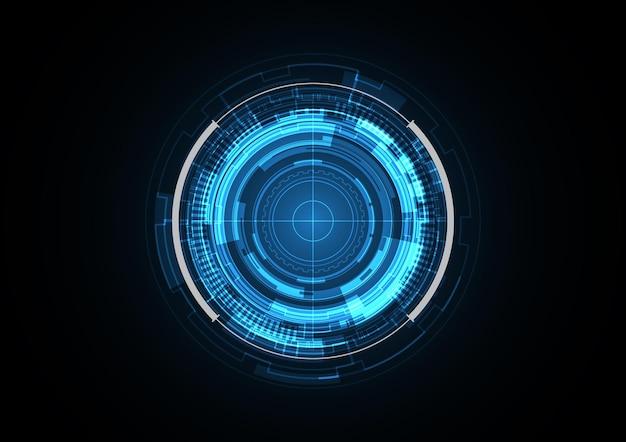 Technologia przyszłości koło bezpieczeństwa radaru streszczenie tło