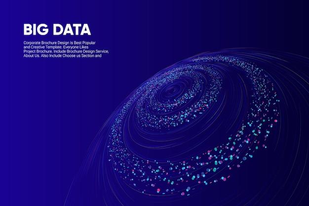 Technologia sieciowa w tle big data premium wektor