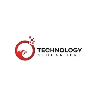 Technologia streszczenie ludzie technologia logo templat
