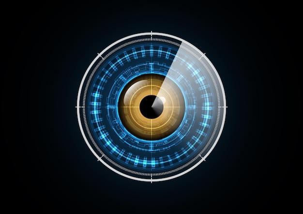 Technologia streszczenie przyszłość oko radar skanowania tło koło bezpieczeństwa