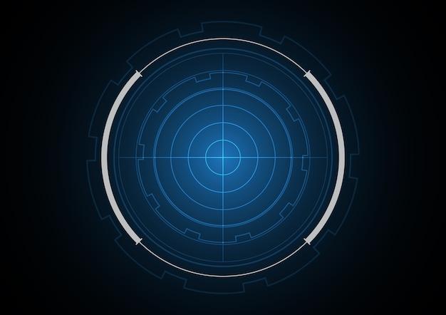 Technologia streszczenie przyszłość radar koło tła ilustracji wektorowych
