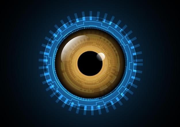 Technologia streszczenie tło przyszłość oczu
