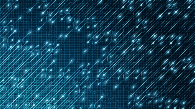 Technologia świetlna microchip future background