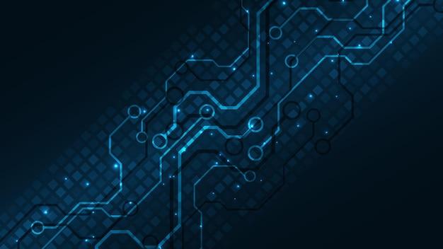 Technologia tła płytka drukowana zaawansowana technologia komunikacji koncepcja innowacji streszczenie tło wektor ilustracja