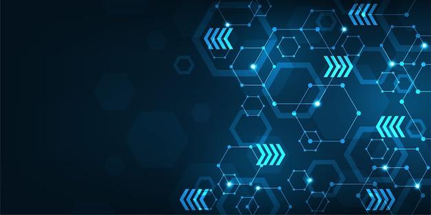 Technologia tła w koncepcji sieci danych.