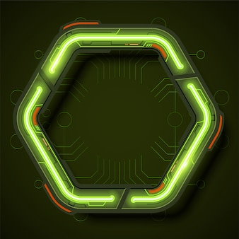 Technologia tło ramki w stylu neon