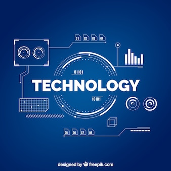 Technologia tło w stylu płaski