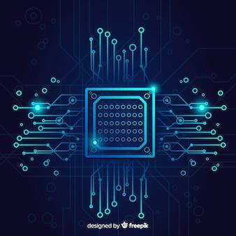 Technologia tło z obwodami