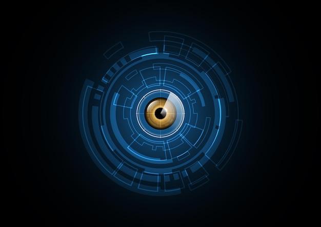 Technologia tło zabezpieczenia radaru oka streszczenie przyszłość