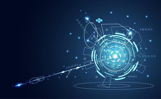 Technologia ui futurystyczny koło hologram interfejsu hud