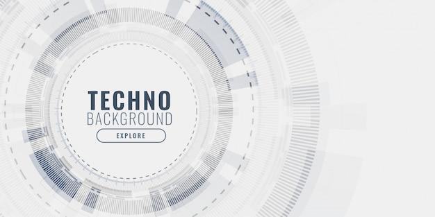 Technologia wizualizacji danych koncepcja futurystyczny banner