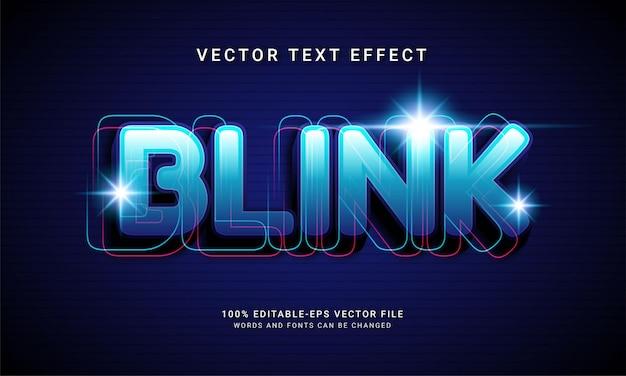 Technologia z edytowalnym efektem tekstowym blink