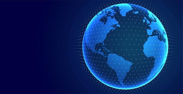 Technologia ziemi cyfrowe globalne tło