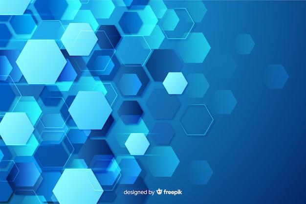Technologicznego plastra miodu tło płaska konstrukcja