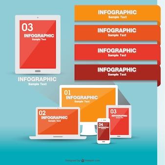 Technologicznej infografika wektor