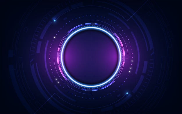 Technologiczny przyszły interfejs platformy hud abstrakcyjne tło szablonu
