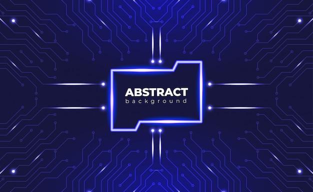Technologiczny tła obwodu deski pojęcie z neonowym skutkiem.