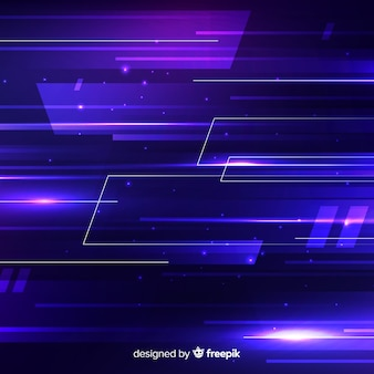 Technologii pojęcia tło z neonowym światłem