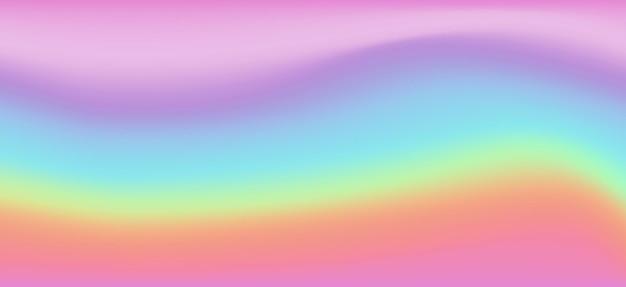 Tęcza fantasy tło. holograficzna ilustracja w pastelowych kolorach. wielobarwne niebo.