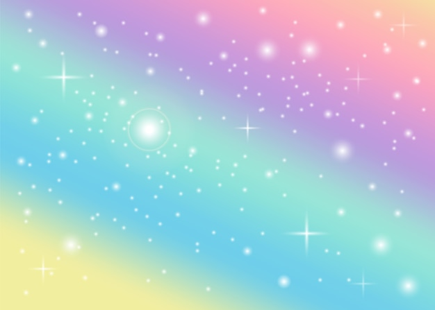 Tęcza pastelowe tło