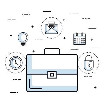 Teczka biznes dokument biura akcesoriów