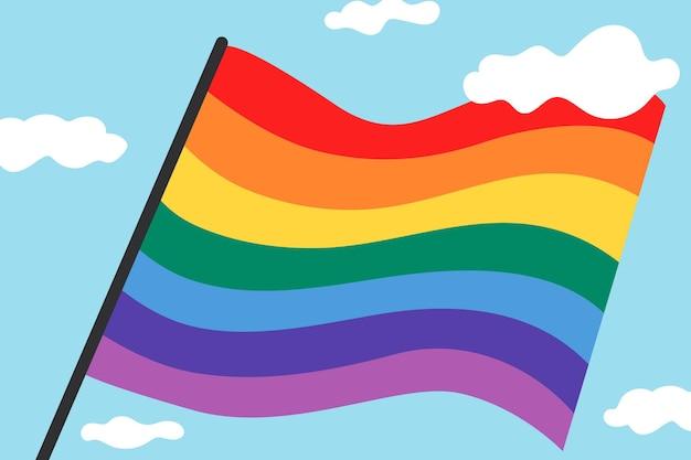 Tęczowa flaga dumy tło wektor