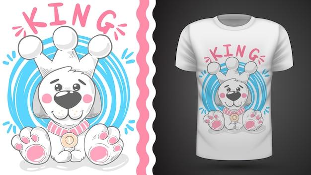 Teddy dog - pomysł na t-shirt z nadrukiem