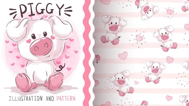 Teddy pig - wzór