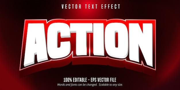 Tekst akcji, edytowalny efekt tekstowy w stylu sportowym
