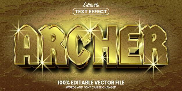 Tekst archer, edytowalny efekt tekstowy w stylu czcionki