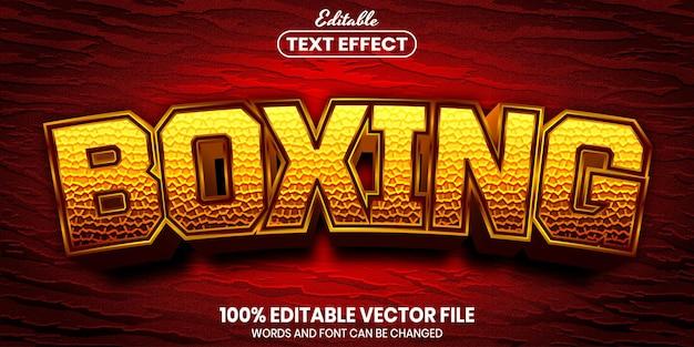 Tekst bokserski, edytowalny efekt tekstowy w stylu czcionki