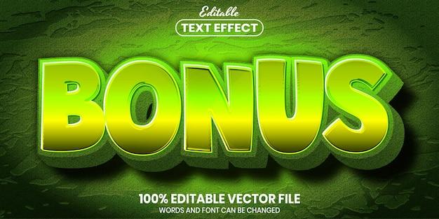 Tekst bonusowy, edytowalny efekt tekstowy w stylu czcionki