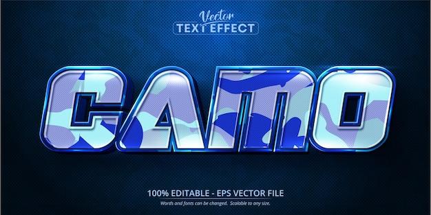 Tekst camo, edytowalny efekt tekstowy w stylu kreskówki