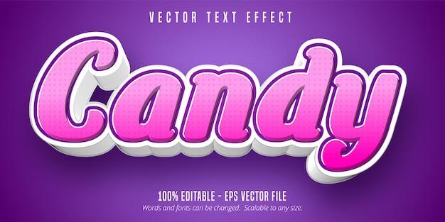 Tekst candy, edytowalny efekt tekstowy