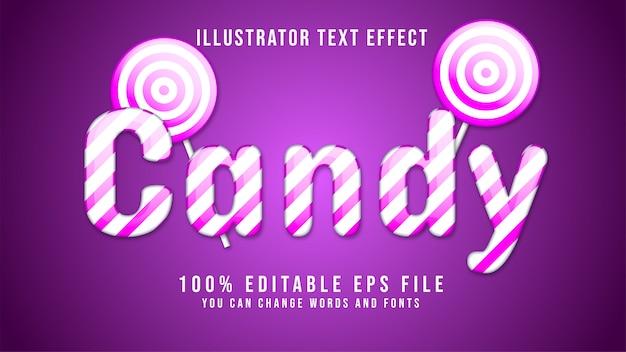 Tekst candy edytowalny