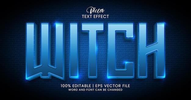 Tekst czarownicy shine edytowalny szablon stylu efektu tekstowego