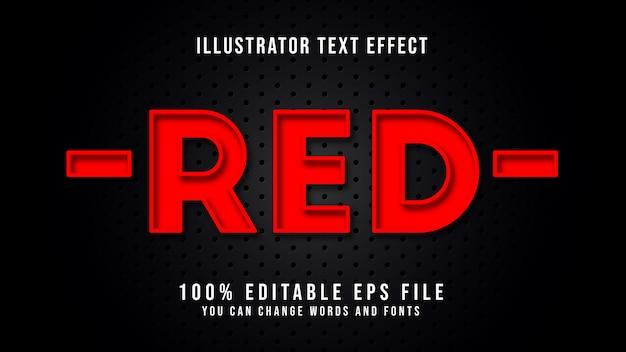Tekst czerwony edytowalny