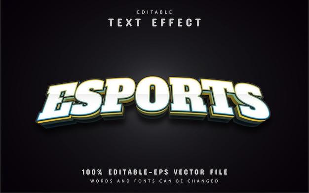 Tekst e-sportu, efekt tekstowy 3d