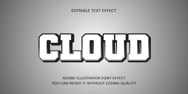 Tekst edytowalny w chmurze efekt