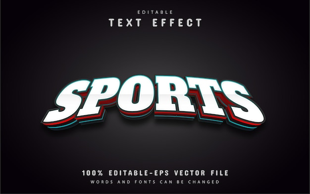 Tekst esport, edytowalny efekt tekstowy 3d