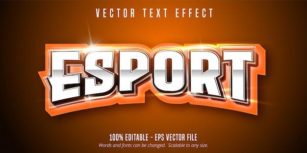 Tekst esport, edytowalny efekt tekstowy w stylu sportowym