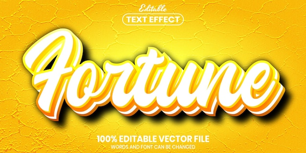 Tekst fortuny, edytowalny efekt tekstowy w stylu czcionki